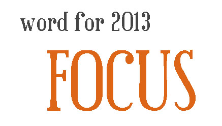 fallenpeach word for 2013 is focus